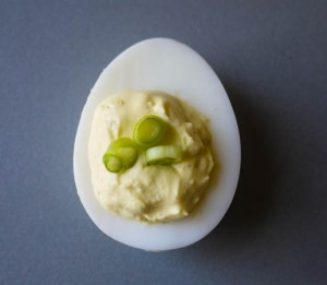 French Onion Deviled Eggs 4