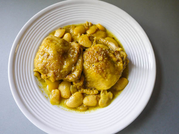 Curry Chicken Thighs with Butter Beans