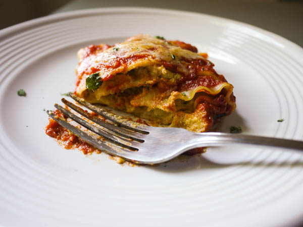Cheesy Sweet Potato Pesto Lasagna Rolls