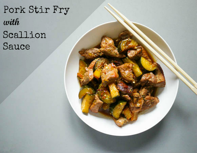 Pork Stir Fry with Scallion Sauce