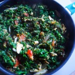 Spinach with Salted Codfish