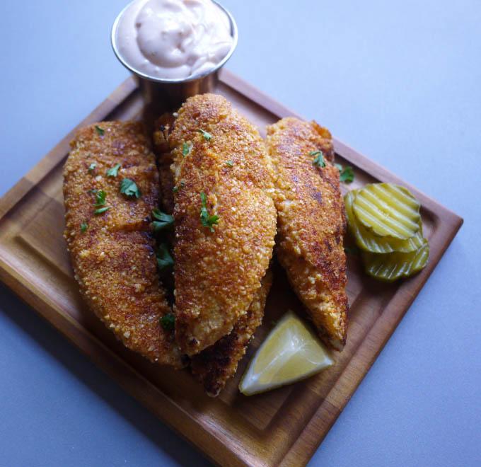 pickle-brined fried chicken tenders