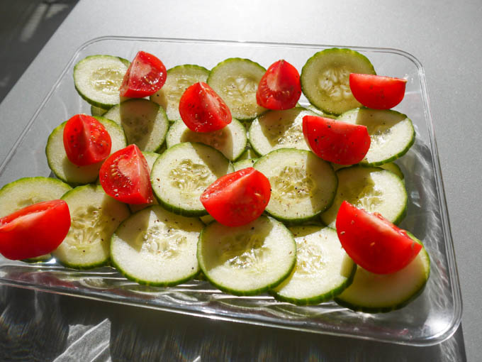 Cucumber Salad with Gin Dressing