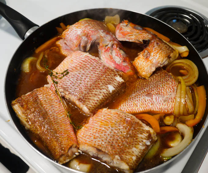 jamaican brown stew fish the eat more food project