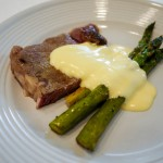 2d steak asapragus hollandaise