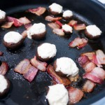 boursin mushrooms with bacon