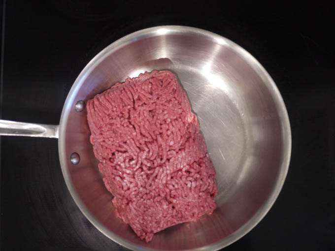 ground beef in skillet