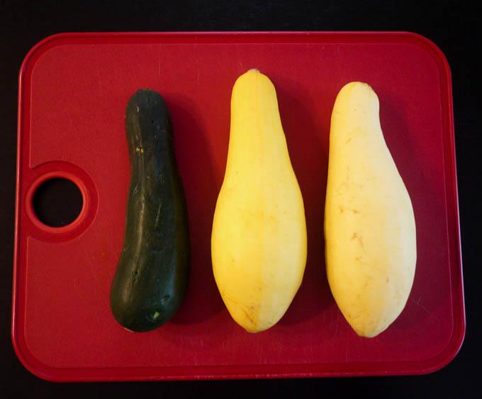 yellow squash and zucchini