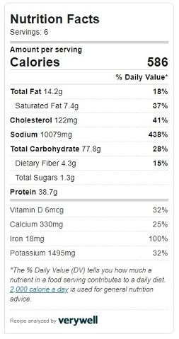 squash lasagna nutrition