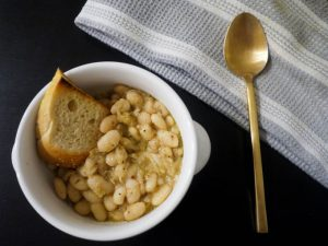 sage and rosemary white beans