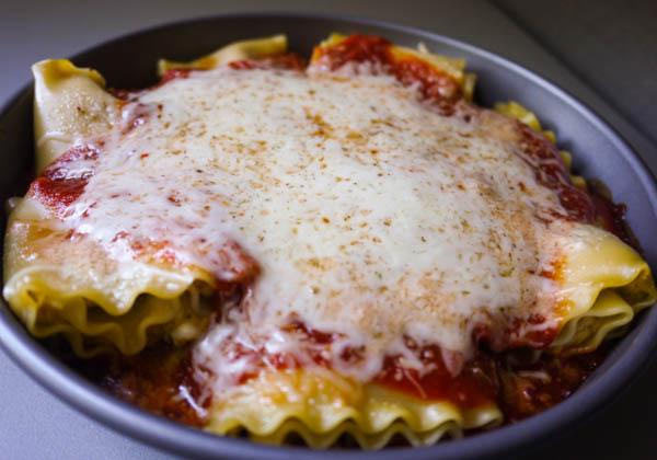 Cheesy Sweet Potato Pesto Lasagna Rolls