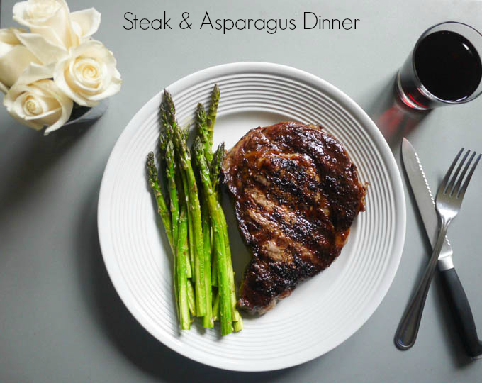 Steak and Asparagus Dinner