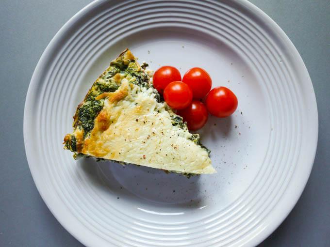 Spinach Ricotta Pimento Pie