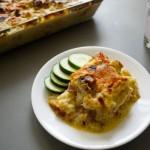 zesty cauliflower ham and cheese casserole