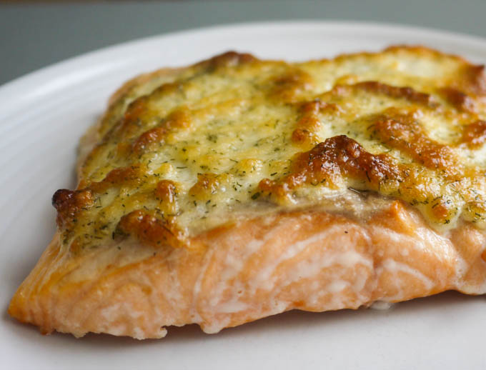 Roasted Salmon with Parmesan Dill Crust