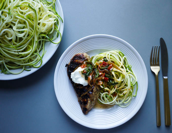 Tuscan Chicken with Zoodles