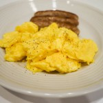 2b scrambled eggs sausage