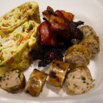 4b japanese omelette bacon chicken sausage
