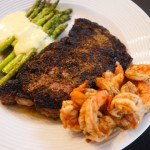 steak asparagus shrimp hollandaise