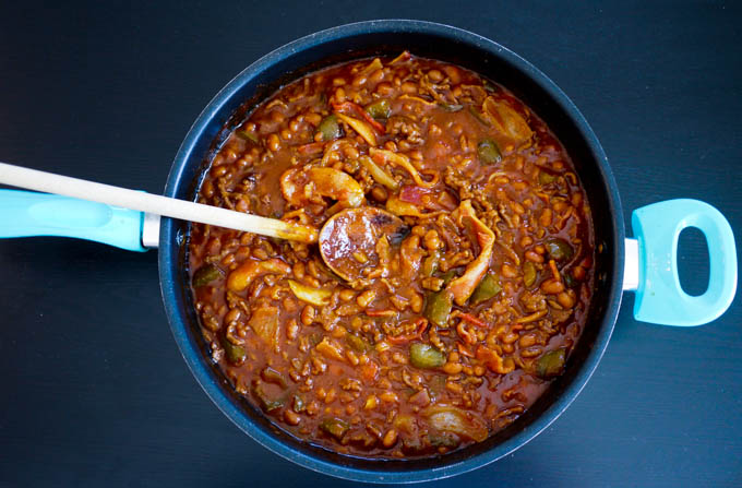 Meaty Baked Beans 4